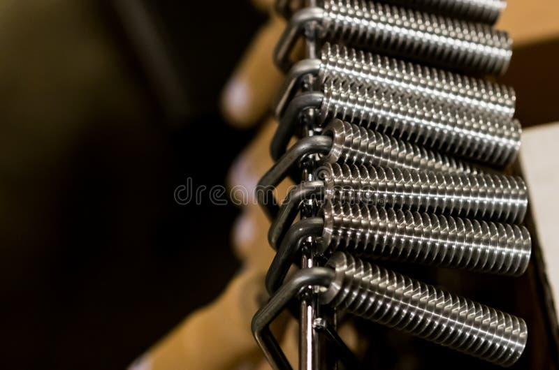 Herramientas resistentes de aluminio del rodillo de la lamina de la fibra de vidrio de la manija de madera fotos de archivo libres de regalías