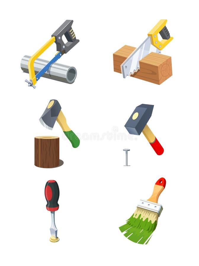 Herramientas Sistema del icono stock de ilustración