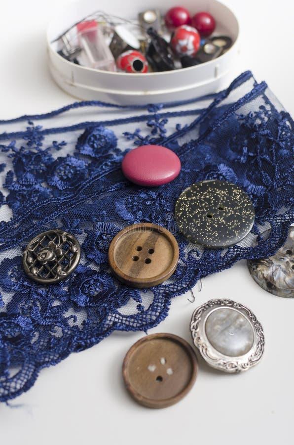 Herramientas y accesorios para coser fotos de archivo libres de regalías