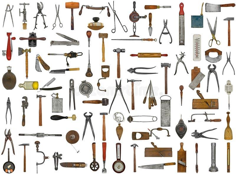 Herramientas y utensilios del vintage ilustración del vector