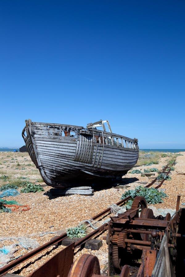 Herrelöst gods för Trawlerfiskebåthaveri arkivbilder