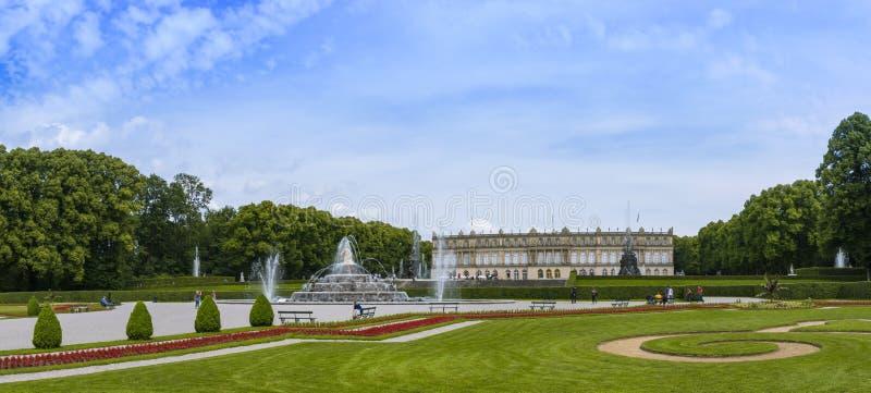 Herrenchiemsee, Chiemsee, дворец, Бавария, Германия стоковые фотографии rf