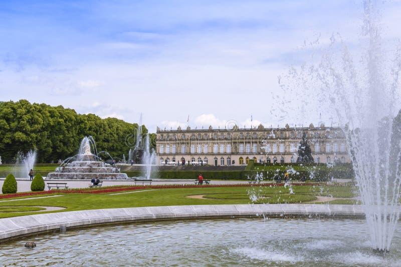 Herrenchiemsee, Chiemsee, дворец, Бавария, Германия стоковое фото rf