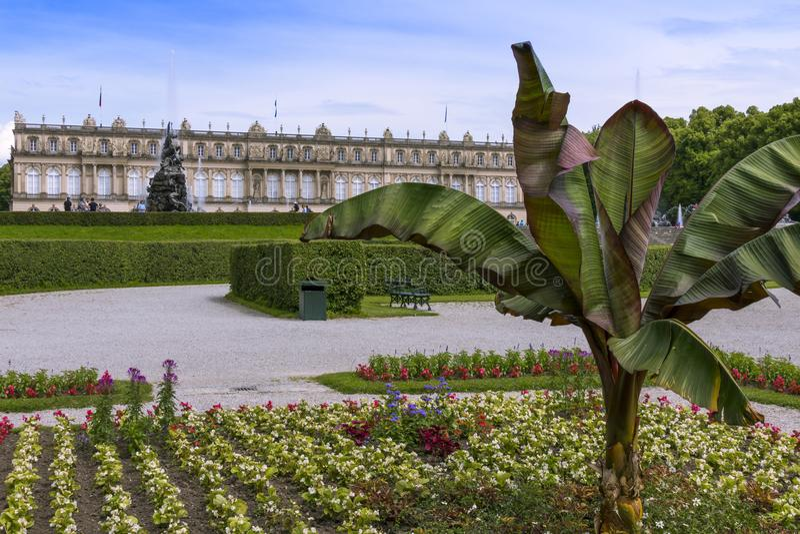 Herrenchiemsee, Chiemsee, дворец, Бавария, Германия стоковое изображение