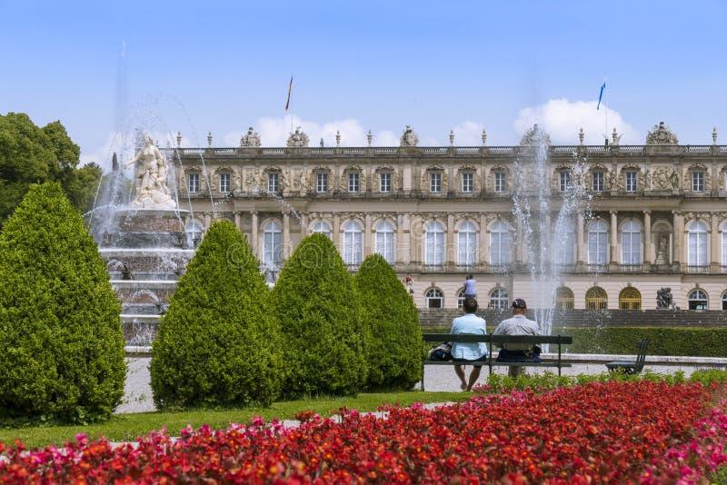 Herrenchiemsee, Chiemsee, pałac, Bavaria, Niemcy obraz stock