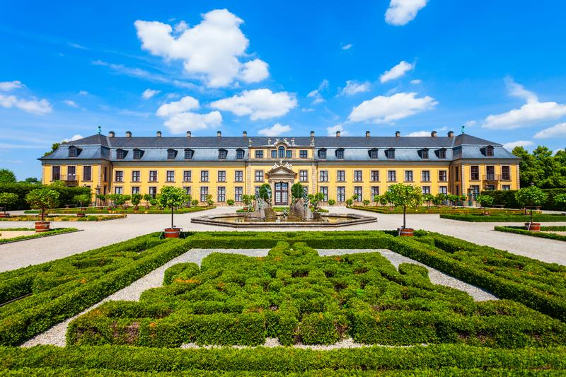 Herrenhausen Gallery in Hannover, Germany. Herrenhausen Gallery located in Herrenhausen Gardens in Hannover, Germany royalty free stock photography