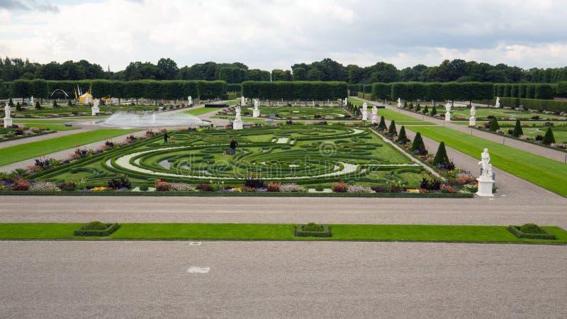 Herrenhausen trädgårdar i ottan fotografering för bildbyråer