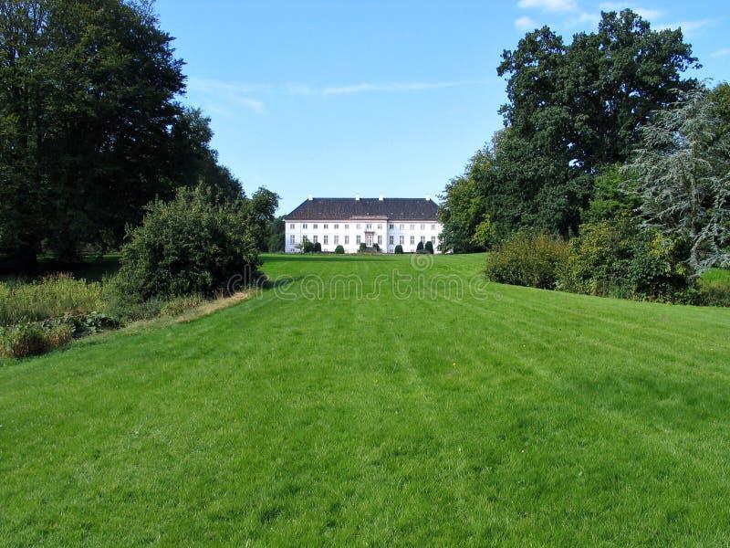 herrgård för landsdenmark hus royaltyfria bilder