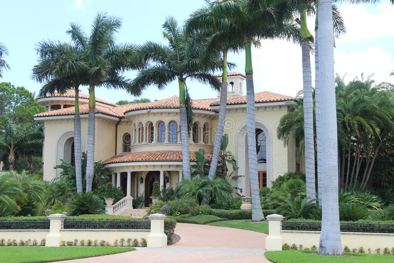 Herrgård i Tampa Florida royaltyfri fotografi