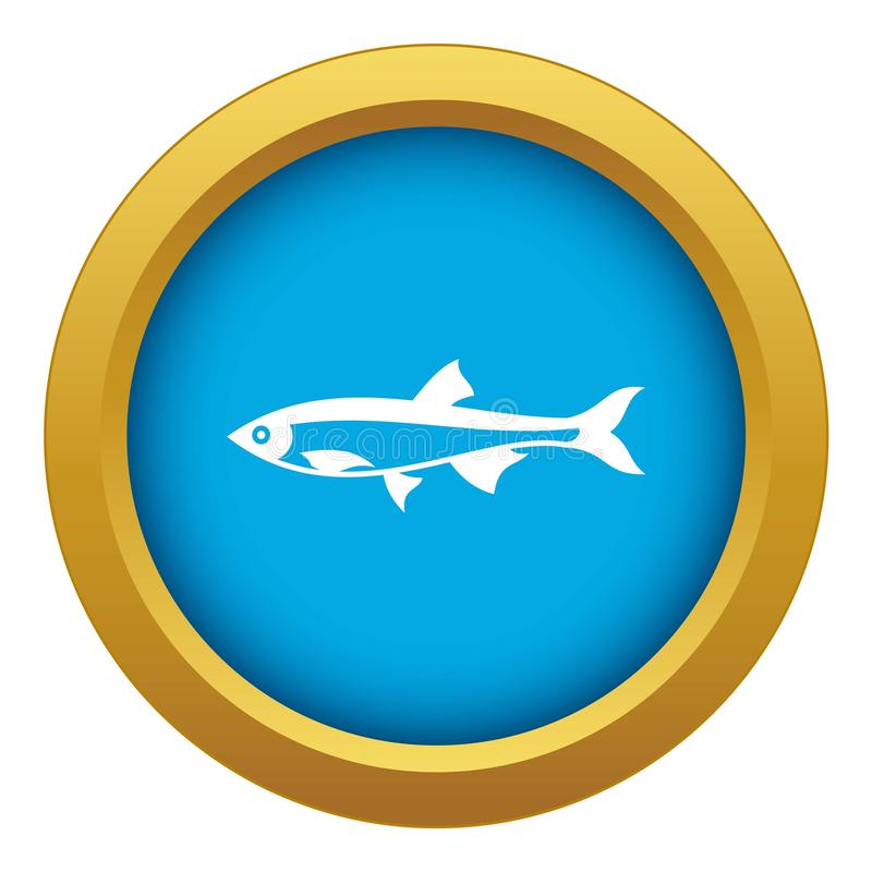 Herring fish icon blue vector isolated. On white background for any design vector illustration