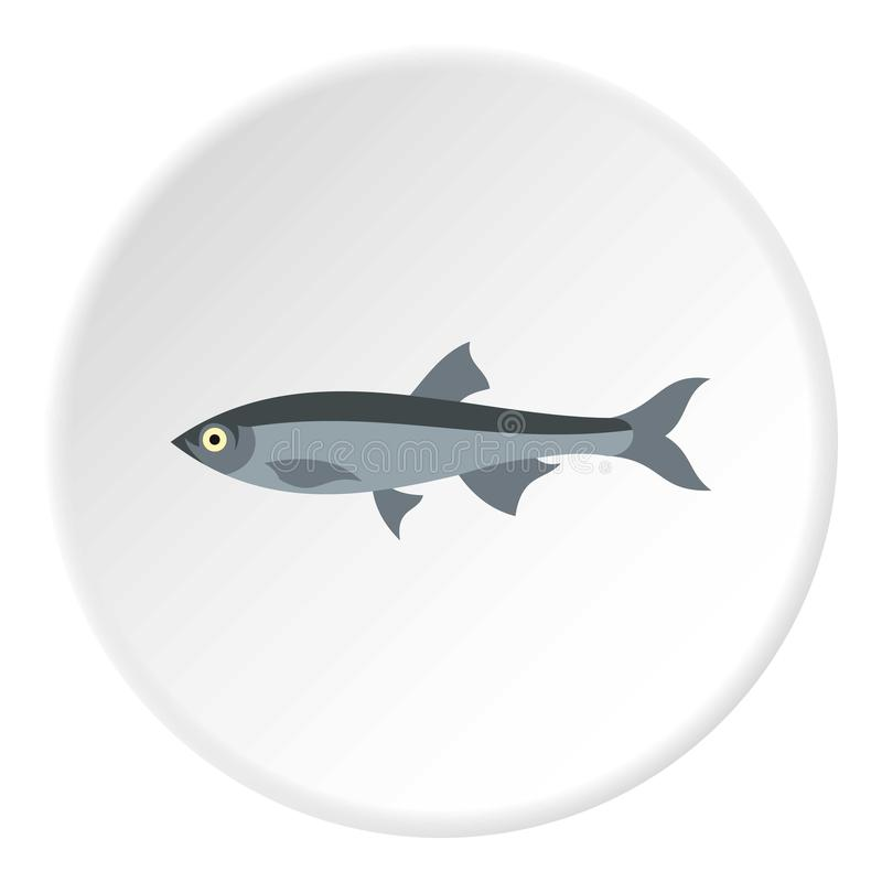 Herring icon, flat style. Herring icon. Flat illustration of herring vector icon for web stock illustration