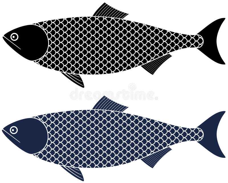 Herring. Vector illustration (EPS 10 royalty free illustration