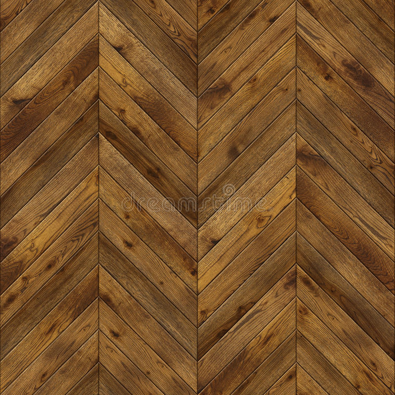 Herringbone, grunge parquet flooring design seamless texture stock photos