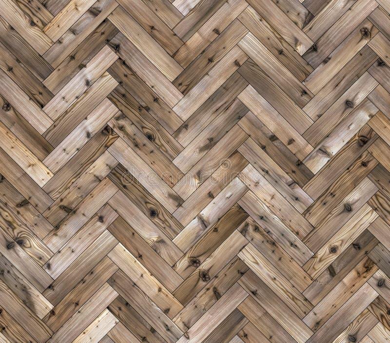 Herringbone natural larch parquet seamless floor texture. Background royalty free stock photos