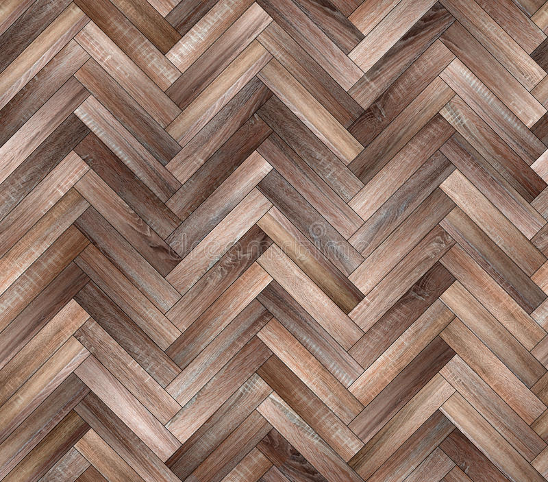 Herringbone natural parquet seamless floor texture. Background royalty free stock images