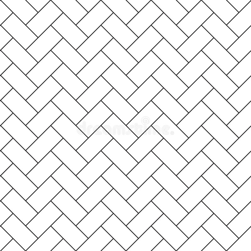 Herringbone Parquet Diagonal Seamless Pattern Stock Vector