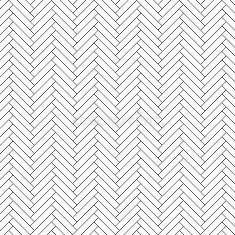 Herringbone pattern. Rectangles slabs tessellation, repeating with white slant blocks tiling. Floor cladding bricks. Mosaic motif. Pavement wallpaper. pattern royalty free illustration