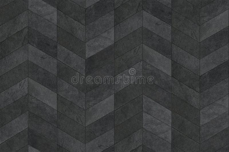 Herringbone pattern surface classic style stone paving, seamless texture map stock photo