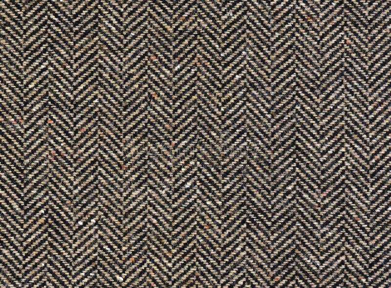 Herringbone tweedu tło z zbliżeniem obrazy stock