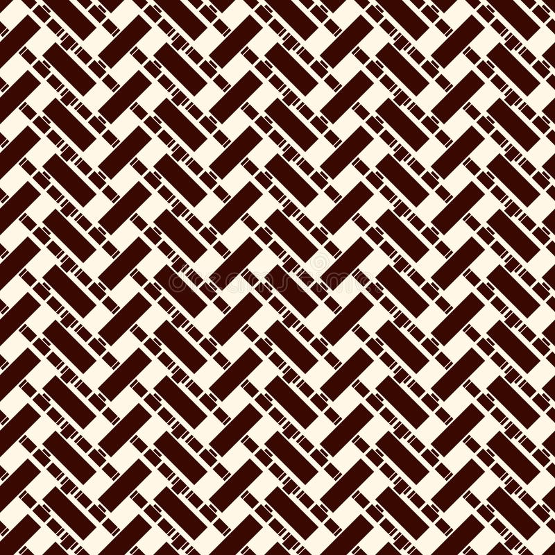 Herringbone wallpaper. Abstract parquet background. Seamless pattern with rectangular tiles. Classic geometric ornament royalty free illustration