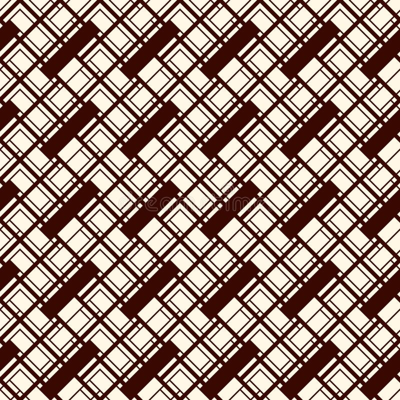 Herringbone wallpaper. Abstract parquet background. Seamless pattern with rectangular tiles. Modern geometric ornament stock illustration