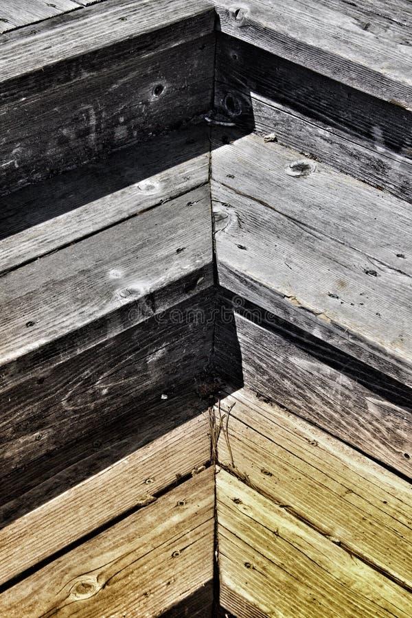 Herringbone wzór drewniani schodki fotografia stock