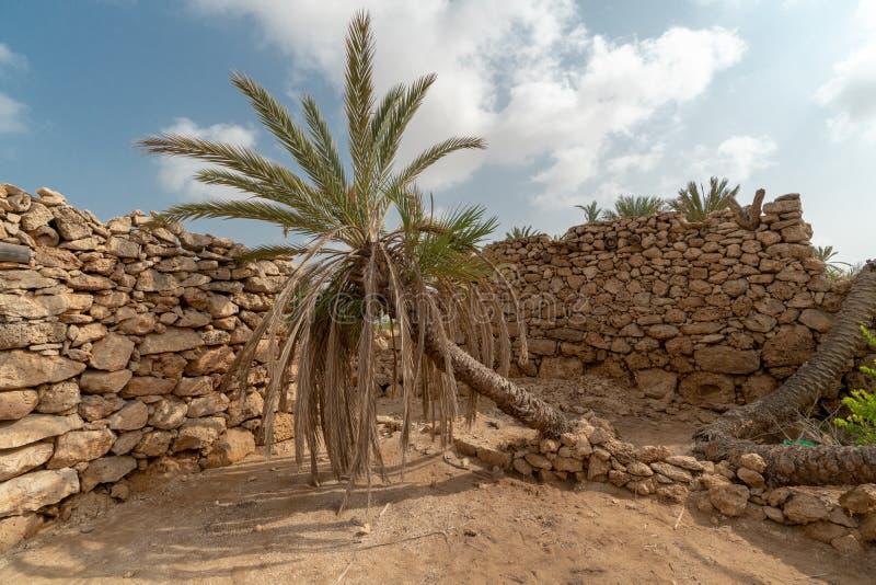 Herritagedorp op Farasan-Eiland in Jizan-Provincie, Saudi-Arabië stock foto