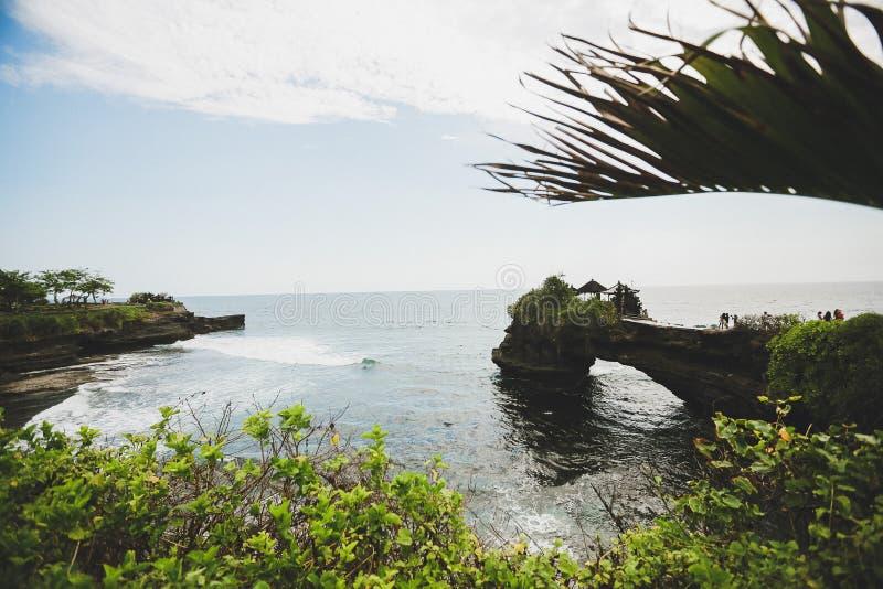Herrliche Ansicht des Indischen Ozeans vom Süden von Bali-Strand lizenzfreie stockfotografie
