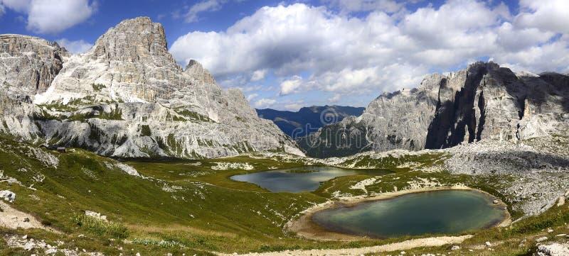 Herrliche Aussicht der Dolomit stockfoto
