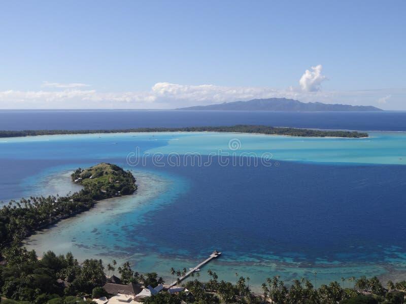 Herrliche Aussicht der Insel Bora Bora mit Taha-` a hinten lizenzfreies stockbild