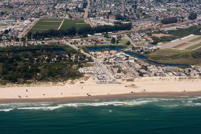 Herrliche Luftaufnahme der Oceano Dünen in Kalifornien stockbilder