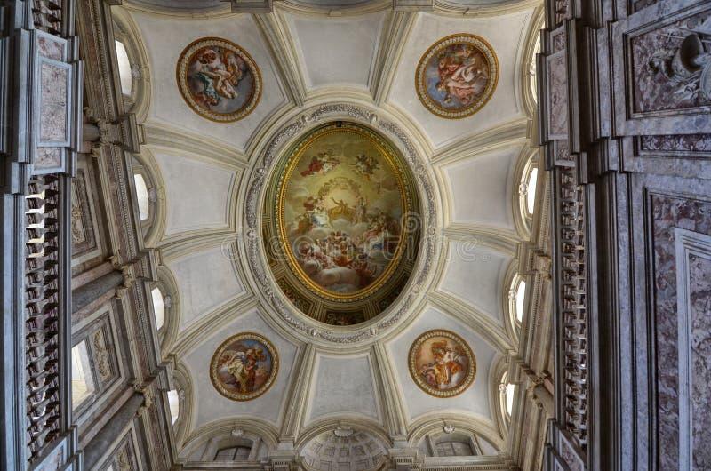 Herrliche Royal Palace von Caserta, sein Innenraum lizenzfreie stockfotos