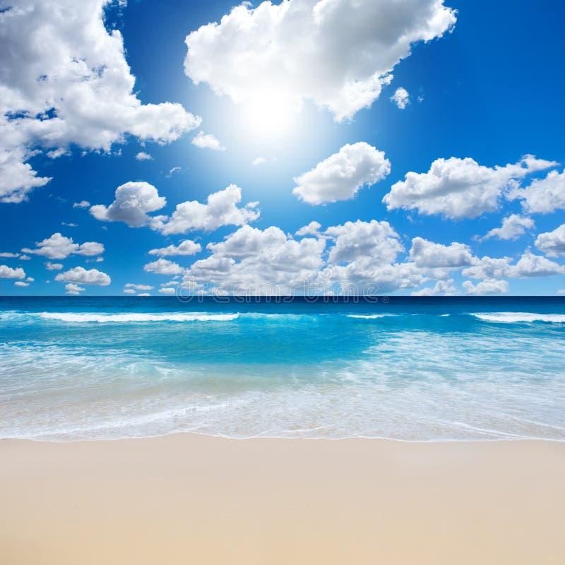 Herrliche Strand-Landschaft stockbild