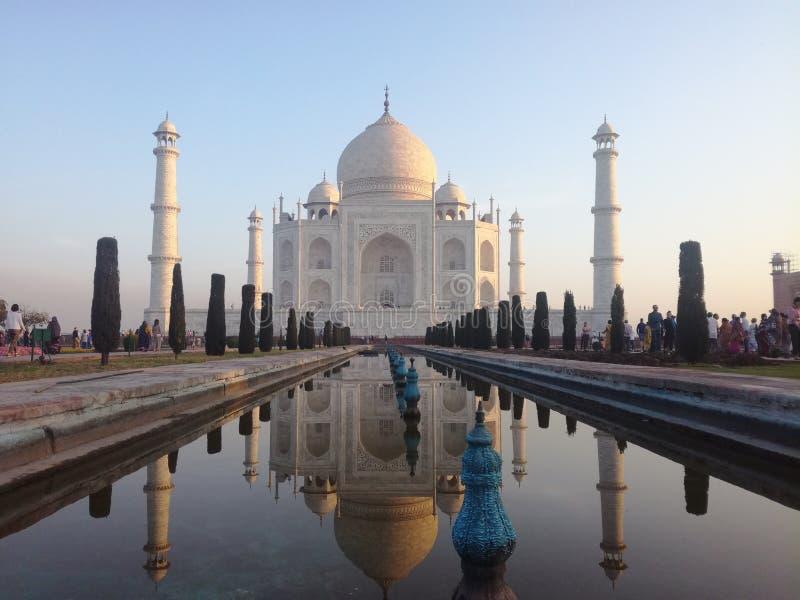 Herrliche Taj Mahal, Agra, Indien stockfotografie