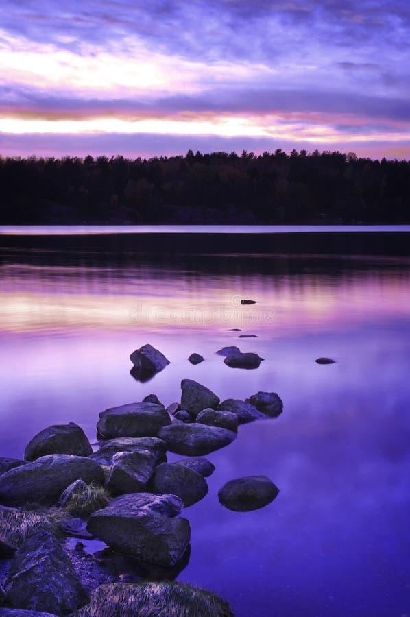 Herrlicher Sonnenuntergang lizenzfreie stockfotografie