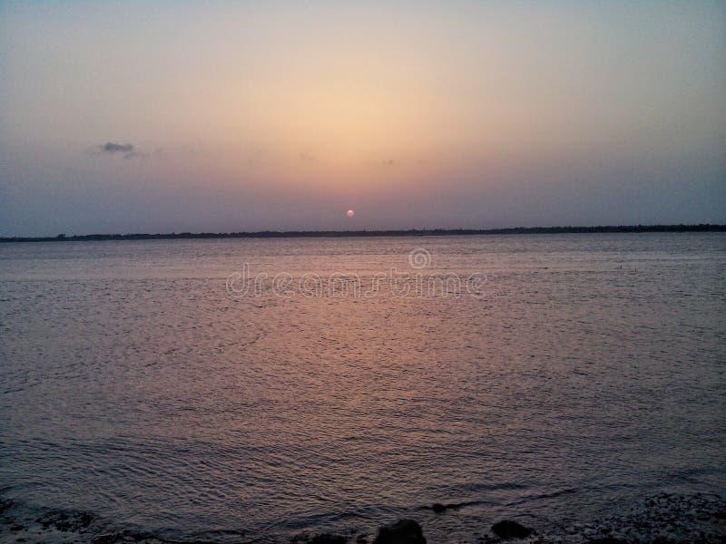 Herrlicher Sonnenuntergang stockbilder