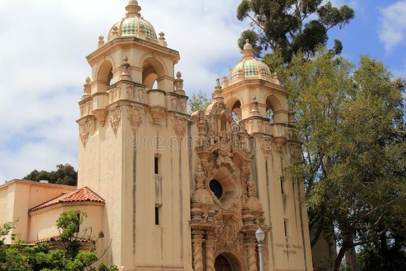 Herrliches Beispiel der Kunstfertigkeit in der Architektur am Balboa-Park, San Diego, Kalifornien, 2016 stockfoto