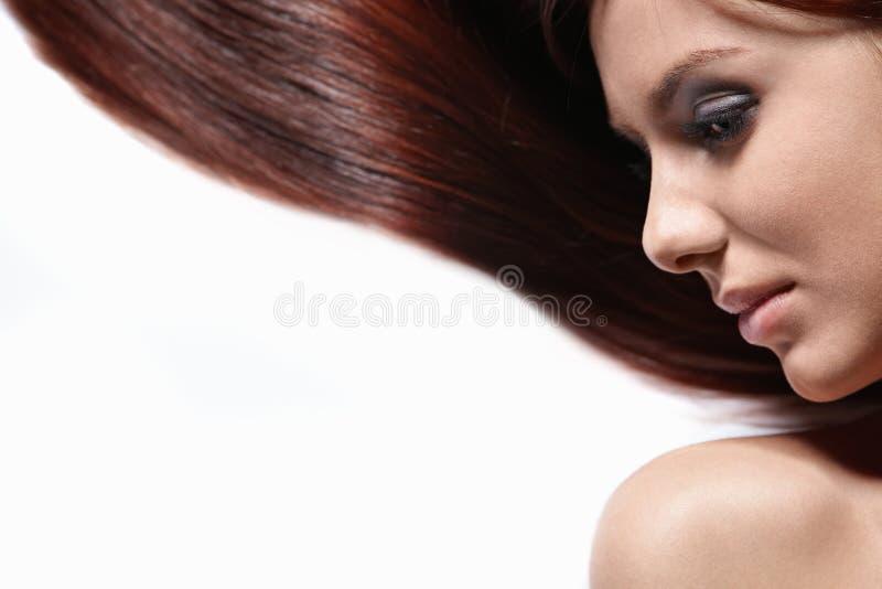 Herrliches langes Haar stockfotografie
