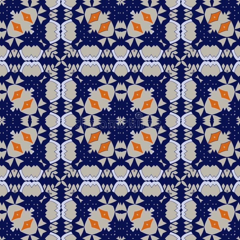 Herrliches nahtloses Muster Azulejo stock abbildung