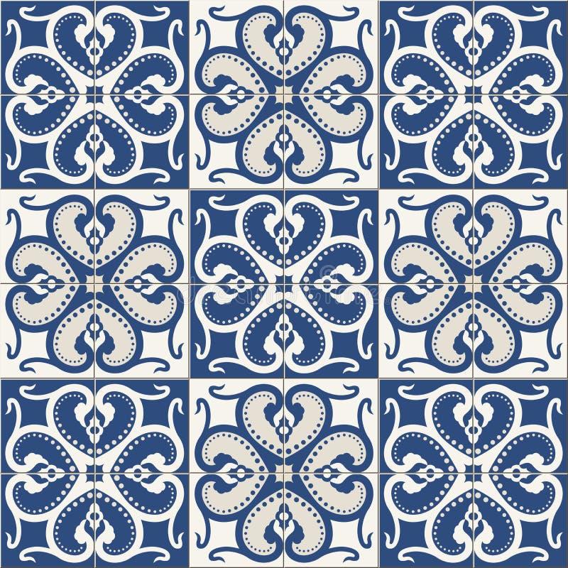 herrliches nahtloses muster wei e bunte marokkanische portugiesische fliesen azulejo. Black Bedroom Furniture Sets. Home Design Ideas