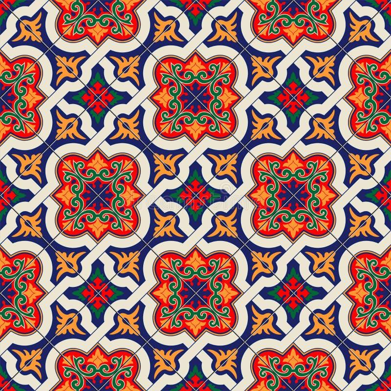 Herrliches Nahtloses Muster Weiße Bunte Marokkanische - Tapete portugiesische fliesen