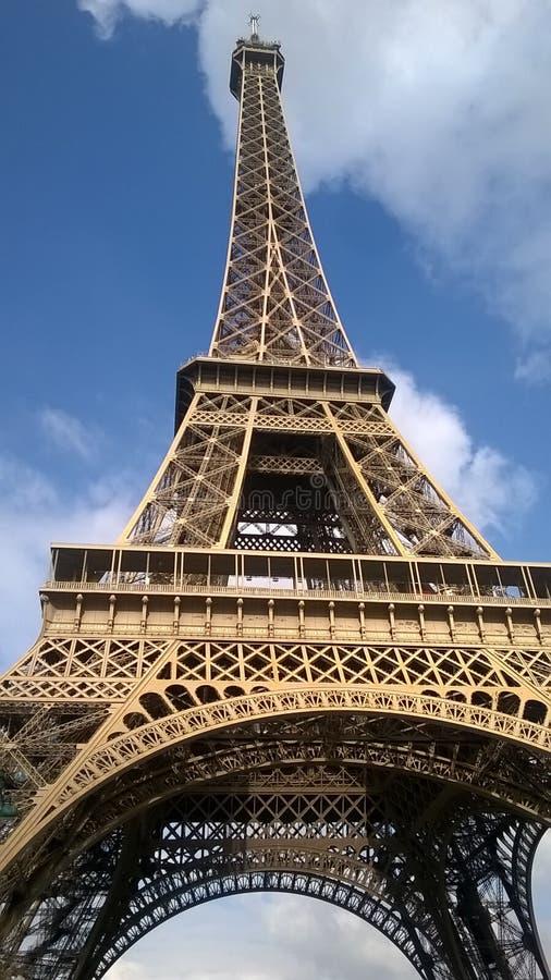 Herrlichkeit des Eiffelturms stockbild
