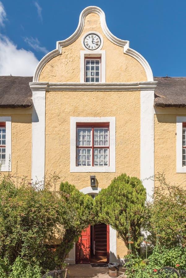 Herrnhut hus i Genadendal som byggs 1838 royaltyfria bilder