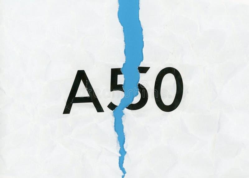 Herroep A50 (Artikel 50) en blijf in de EU royalty-vrije stock afbeeldingen