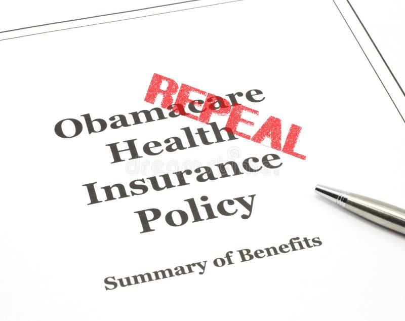 Herroeping die op Obamacare wordt gestempeld stock fotografie