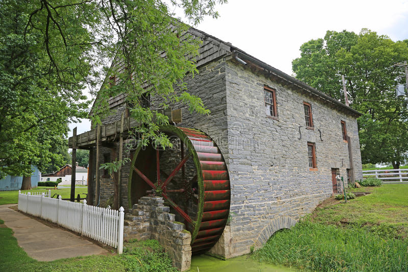 Herrs Mill - Back view. Back view of Herr's Mill- Lancaster, pennsylvania stock photo