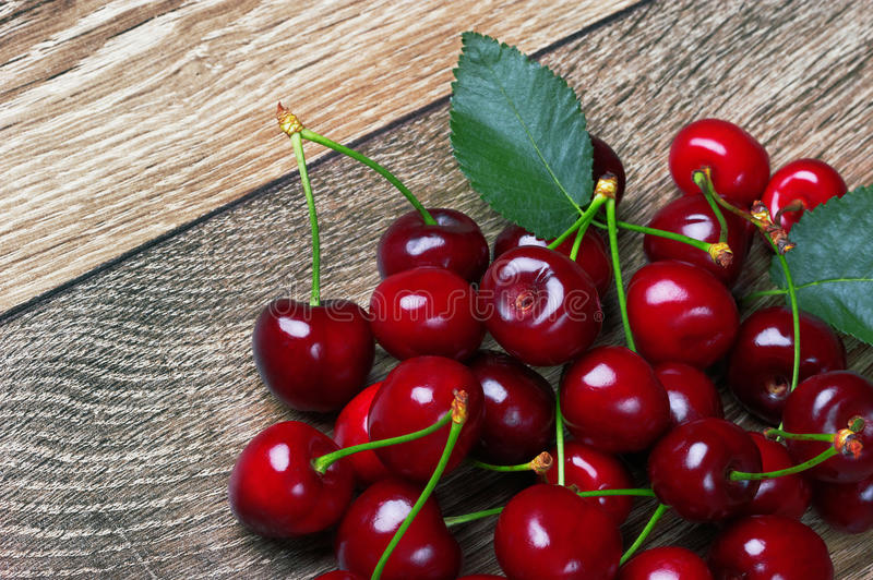 Download Cherry With Leaf Stock Photos - Image: 31947983