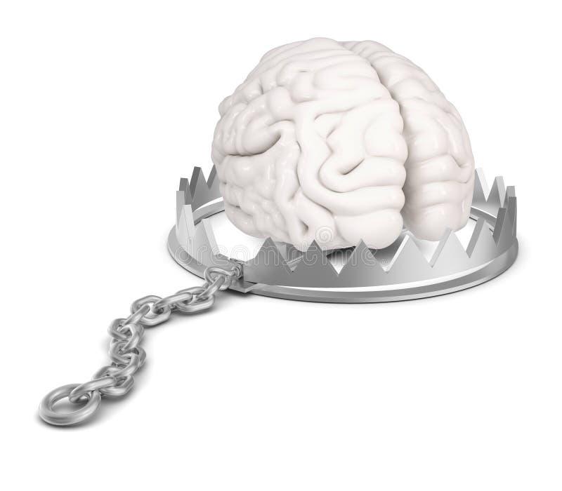 Hersenen in beerval royalty-vrije illustratie