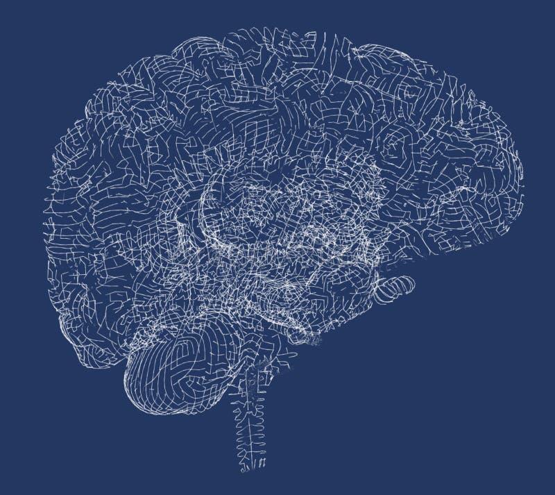 Hersenen degeneratieve ziekten, Parkinson, synapsen, neuronen, royalty-vrije stock afbeelding