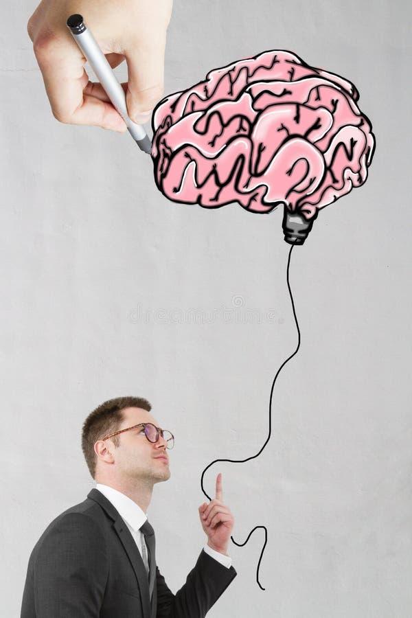 Hersenen en flitsen royalty-vrije stock foto